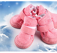 Dog Shoes & Boots Keep Warm Solid Blushing Pink Brown
