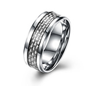 Men's Band Rings Jewelry Basic Fashion Titanium Steel Circle Jewelry For Party Engagement Daily Casual Office & Career
