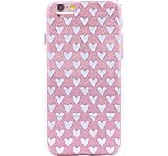 Кейс для Назначение iPhone X iPhone 8 С узором Задняя крышка С сердцем Сияние и блеск Мягкий TPU для iPhone X iPhone 8 Plus iPhone 8