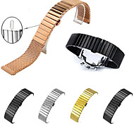 cheap -Watch Band for Gear S3 Frontier Gear S3 Classic Gear S3 Classic LTE Fitbit Alta HR Samsung Galaxy Butterfly Buckle Stainless Steel Gold