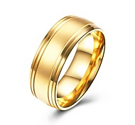cheap -Men's Band Ring - Circle Basic Fashion Gold Ring For Party Engagement Daily Casual Office & Career