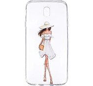 cheap -Case For Samsung Galaxy J7 (2017) J3 (2017) Transparent Pattern Back Cover Sexy Lady Soft TPU for J7 (2017) J5 (2017) J5 (2016) J5 J3