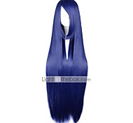 Cosplay Wigs Naruto Hinata Hyuga Blue Long / Straight Anime Cosplay Wigs 100 CM Heat Resistant Fiber Female