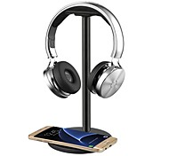 cheap -Headphone Headset Stand / Hanger / Holder / Mount with QI Wireless Charging for Samsung Galaxy S7 /S7 EdgeS6 / S6 EdgeNote 5 Nexus 7/5/4 Nokia Lumia