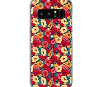 cheap -Case For Samsung Galaxy Pattern Back Cover Flower Soft TPU for Note 8 Note 5 Edge Note 5 Note 4 Note 3 Lite Note 3 Note 2 Note Edge Note