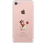 Capinha Para Apple iPhone X iPhone 8 iPhone 8 Plus Ultra-Fina Transparente Estampada Capa Traseira Natal Macia TPU para iPhone X iPhone 8