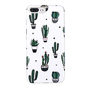 abordables -Funda Para Apple iPhone X iPhone 8 Ultrafina Diseños Cubierta Trasera Árbol Suave TPU para iPhone X iPhone 8 Plus iPhone 8 iPhone 7 Plus