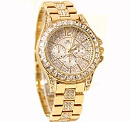 Mujer Reloj de Moda Reloj Casual Reloj de Cristal Pavé Chino Cuarzo Acero Inoxidable Banda Plata Dorado Oro Rosa
