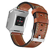 cheap -For Fitbit Ionic Newest Genuine Leather Replacement Watch Strap Fashion Watchband band
