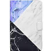 cheap -Case For Samsung Galaxy Full Body Cases Tablet Cases Marble Hard PU Leather for Tab E 9.6