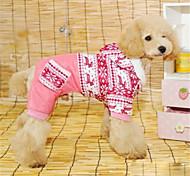 Зима Одежда для собак Плащи Контрастных цветов Красный Синий Собака