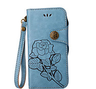Case For Samsung Galaxy J7 (2017) J3 (2017) Wallet Card Holder with Stand Flip Pattern Full Body Flower Hard PU Leather for J7 Prime J7