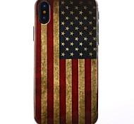 baratos -Capinha Para Apple iPhone X iPhone X IMD Capa traseira Bandeira Glitter Brilhante Macia TPU para iPhone X