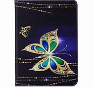 Недорогие -бабочка шаблон карты держатель кошелек с подставкой флип магнитный кожаный чехол pu для Samsung Galaxy Tab s3 wifi / lte t820 t825