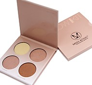 4 Eyeshadow Palette Dry Eyeshadow palette Powder Daily Makeup