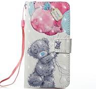 baratos -Capinha Para Apple iPhone X iPhone 8 Porta-Cartão Carteira Com Suporte Capa Proteção Completa Animal Rígida PU Leather para iPhone 8 Plus