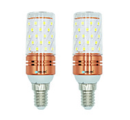 Недорогие -BRELONG® 2pcs 12W 1000lm E14 LED лампы типа Корн T 60 Светодиодные бусины SMD 2835 Тёплый белый Белый Двойной цвет источника света