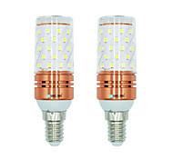 abordables -BRELONG® 2pcs 12W 1000lm E14 Bombillas LED de Mazorca T 60 Cuentas LED SMD 2835 Blanco Cálido Blanco Color de fuente de luz dual 220-240V