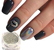 Недорогие -1pcs Гель для ногтей / Порошок блеска / порошок Лазерная голографическая / Блеск и сияние Дизайн ногтей