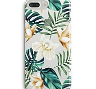cheap -Case For Apple iPhone X iPhone 8 Ultra-thin Transparent Pattern Back Cover Flower Tree Soft TPU for iPhone 8 Plus iPhone 8 iPhone SE/5s