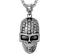 Men's Women's Pendant Necklaces Skull Stainless Steel Hip-Hop Personalized Jewelry For Ceremony Club