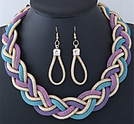 Жен. Мода Повседневные Сплав Свисающие Ожерелья Серьги