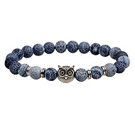Men's Women's Strand Bracelet Onyx Fashion Vintage Natural Stone Owl Jewelry For Casual Going out