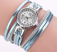 Damen Modeuhr Armband-Uhr Simulierter Diamant Uhr Chinesisch Quartz Imitation Diamant PU Band Bettelarmband Bequem Elegante Schwarz Weiß