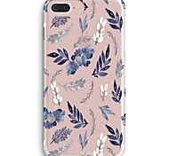 cheap -Case For iPhone X iPhone 8 Ultra-thin Transparent Pattern Back Cover Flower Soft TPU for iPhone X iPhone 8 Plus iPhone 8 iPhone 7 Plus