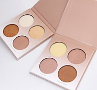 4 Concealer/Contour Highlighters/Bronzers Pressed Powder Matte Mineral Pressed powder Whitening Oil-control Long Lasting Natural