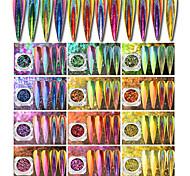 Недорогие -1pcs Гель для ногтей / Порошок блеска / Пайетки Зеркальный эффект / Блеск и сияние Дизайн ногтей