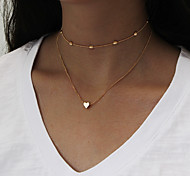 Women's Layered Necklaces Heart Alloy Fashion Jewelry For Daily Casual