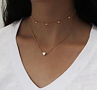 Жен. Слоистые ожерелья В форме сердца Сплав Мода Бижутерия Назначение Повседневные