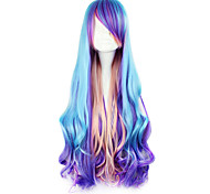 Парики для Лолиты Панк Синий Градиент цвета Парики для Лолиты 80 См Косплэй парики Пэчворк Парики Назначение