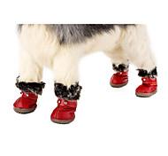 Недорогие -Собака обувь для собак Одежда для собак На каждый день Сохраняет тепло Спорт Однотонный Черный Красный Костюм Для домашних животных