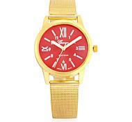 Недорогие -Жен. Модные часы Наручные часы Китайский Кварцевый Металл Группа С подвесками Повседневная Люкс Элегантные часы Золотистый