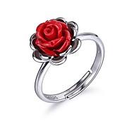 Недорогие -Жен. Обручальное кольцо Секси Elegant Стерлинговое серебро Цветы Бижутерия День рождения