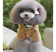 Собака Плащи Одежда для собак На каждый день Английский Черный Серый Кофейный
