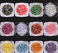 12 cores 3d diamante lantejoulas o diamante dinâmico flash lantejoulas 1g / caixa