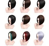 Недорогие -Искусственные волосы парики Прямой Природные волосы Стрижка под мальчика Стрижка боб Без шапочки-основы Парик для Хэллоуина Знаменитый