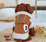 Dog Hoodie Dog Clothes Casual/Daily Cartoon Blushing Pink Coffee