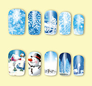 2 Nail Art Sticker  Pattern Accessories Art Deco/Retro Water Transfer Sticker Water Transfer Decals 3-D Christmas New Year Sticker DIY