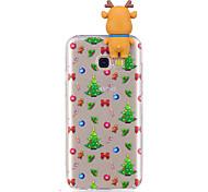 Кейс для Назначение SSamsung Galaxy A7(2017) A5(2017) С узором Своими руками Задняя крышка Рождество 3D в мультяшном стиле Мягкий TPU для