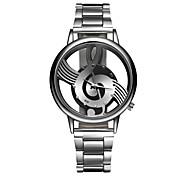 Недорогие -Муж. Жен. Кварцевый Наручные часы Повседневные часы Нержавеющая сталь Группа Кулоны Мода Серебристый металл