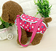 cheap -Cat Dog Shoulder Bag Pet Carrier Portable Polka Dot Blue Pink