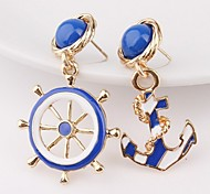 cheap -Women's Mismatch Earrings Cute Style Mismatch Alloy Anchor Jewelry For Gift Going out