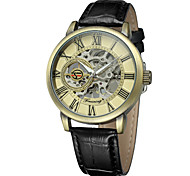 FORSINING Men's Casual Watch Fashion Watch Wrist watch Automatic self-winding Leather Band Casual Cool