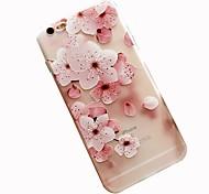 Недорогие -Кейс для Назначение Apple iPhone 8 iPhone 7 С узором Задняя крышка Цветы Мягкий TPU для iPhone 8 Plus iPhone 8 iPhone 7 Plus iPhone 7