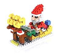 baratos -Blocos de Construir 180pcs Ternos de Papai Noel Papai Noel Ternos de Papai Noel Non Toxic Natal Férias Brinquedos Dom