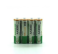 Nickel Hydrogen Rechargeable Battery Ni-Mh Aa 2500 1.2V 4 Packs